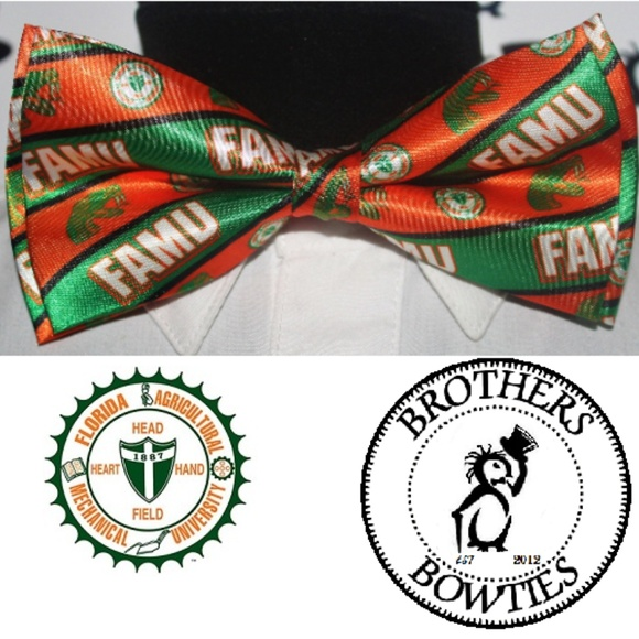Brothers & Bowties Other - Florida A&M University FAMU Rattlers New! Bow tie